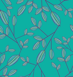 Cute seamless leaf pattern vector