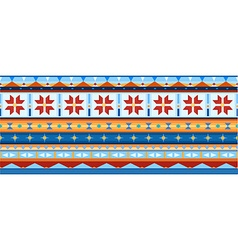 Ethnic jacquard ornament vector
