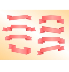 Banners pink vector