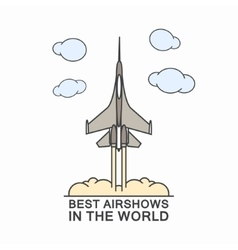 Military airplane in the sky vector image