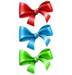 Set bow in different color vector