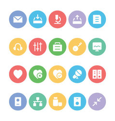 Communication icons d vector