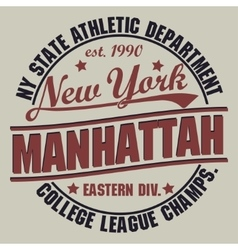 New york sport t-shirt graphics vector