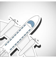 Travel design airplane icon flat vector