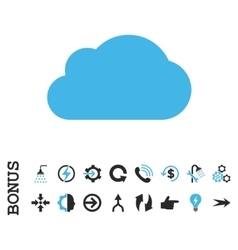 Cloud flat icon with bonus vector
