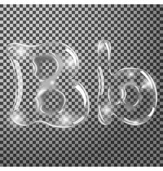 Bubbles letters b vector