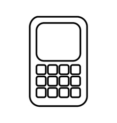 Cell phone design vector