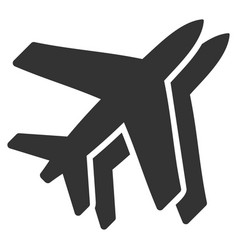 airlines flat icon vector image