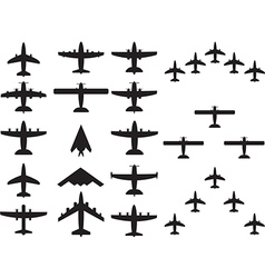 Airplains top view vector