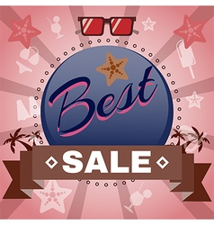 Best Sale Promotion Flyer vector image vector image