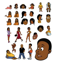 black people vector image vector image