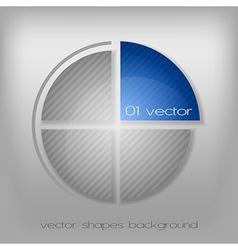 business circle gray vector image vector image