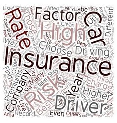 Car insurance for high risk drivers text vector