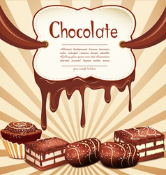 chocolate candy vector image