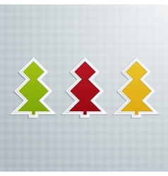Colored Fir-Trees Set of Two vector image vector image