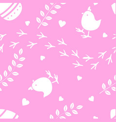 Easter pink seamless pattern retro vintage design vector