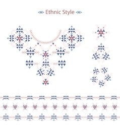 Ethnic colorful pattern set isolated on white in vector