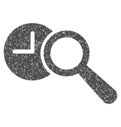 Find time grainy texture icon vector