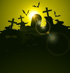 halloween background vector image