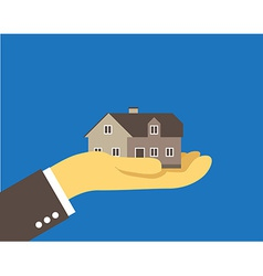 House on the palm vector image