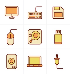 Icons Style Computer Icons Set Design vector image