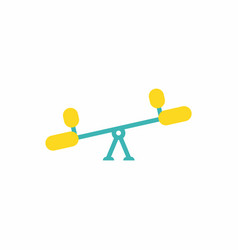In flat style childs seesaw vector
