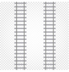 isolated abstract grey color railway road on vector image vector image