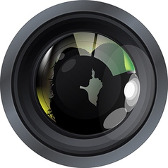 Lense with people vector image vector image