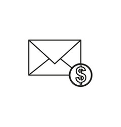 Money email icon vector