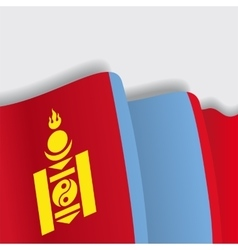 Mongolian waving flag vector