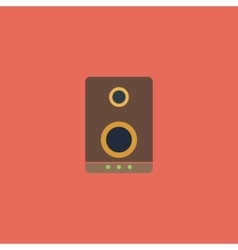 music speakers icon vector image
