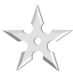 Ninja throwing star vector image
