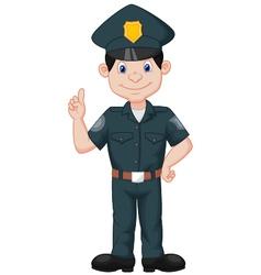 Policeman in uniform vector