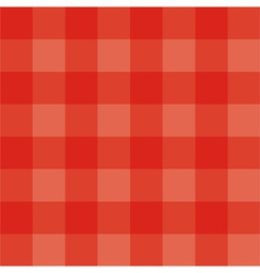 Seamless red grid background or checkered pattern vector image vector image