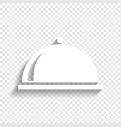 Server sign white icon with vector