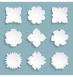 set of 9 white frames vector image vector image