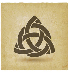 Triquetra in circle old background vector
