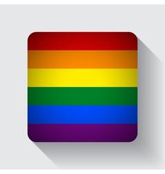 Web button with rainbow flag vector
