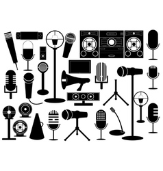 Microphones and gadgets vector