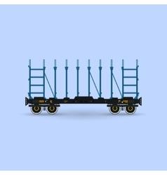Railway platform isolated vector