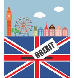 Brexit in the uk vector