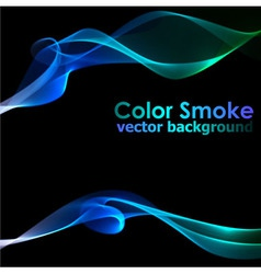 Abstract blue smoke background vector image