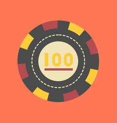 Flat icon stylish background single poker chips vector