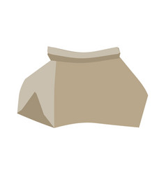 Paper bag crushed garbage isolated package vector