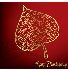 Elegant filigree thanksgiving card in format vector