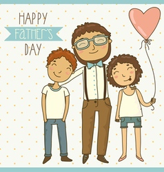 Bright card for fathers day vector