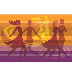 Dancing colorful background vector