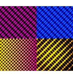 Set of dark abstract spectrum background lines vector image