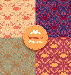 Seamless patterns tiling vector