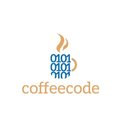 Abstract logo template corporate coffee cod vector
